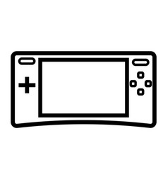 small game console icon vector image