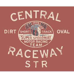 Speedway racing team vector image