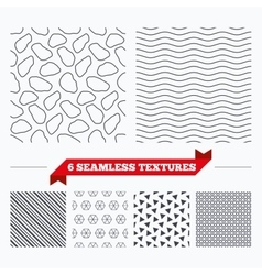 Stone tiles geometric seamless pattern vector