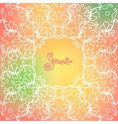 Summer pattern spirals swirls chains vector