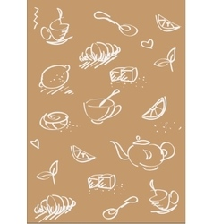 tea st background light brown vector image