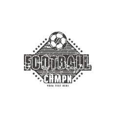 Template emblem for football championship vector