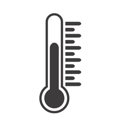 thermometer icon with temperature half scale for vector image