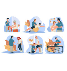 treatment massage for people with injuries vector image