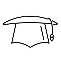 University graduation hat icon outline vector