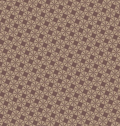 Vintage brown geometric pattern background vector