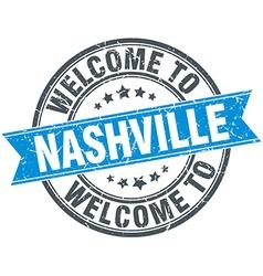 Welcome to Nashville blue round vintage stamp vector