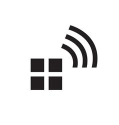 wifi house home logo smart home tech internet in vector image