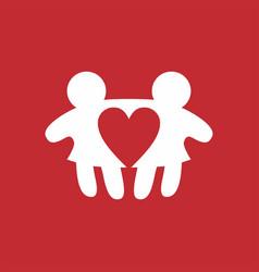 woman love lesbian logo icon vector image