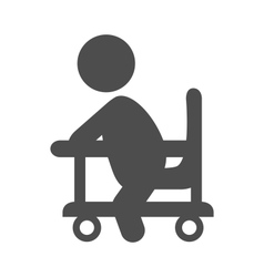 Baby in walker pictogram flat icon isolated on vector image vector image