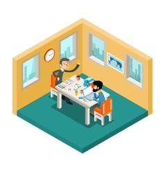 Creative collaboration Businessmen team working vector image vector image