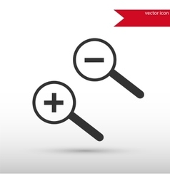 Magnifying glass isolated Black icon and vector image