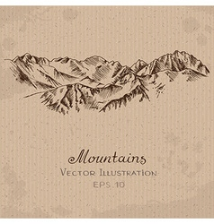 Mountains Ridge vector image vector image