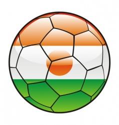 niger flag on soccer ball vector image