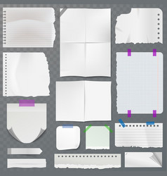 note papers page of notepad or sheets of vector image vector image