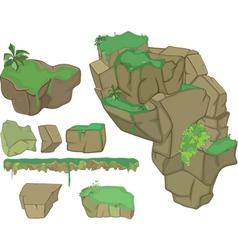 Stones set cartoon for you design vector