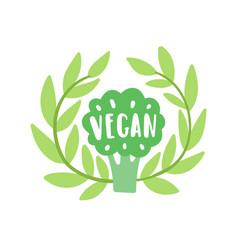 vegan lettering vector image vector image