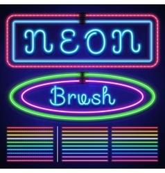 Vintage neon electric stroke custom pattern vector image vector image