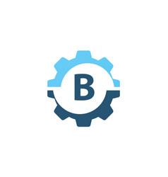 gear solution logo initial b vector image vector image