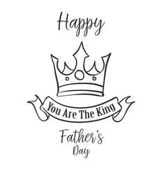 Hand draw father day card style vector