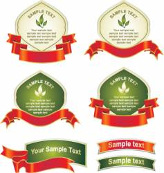 labels and banners vector image
