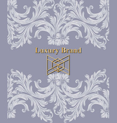 luxury card with ornaments beautiful vector image