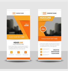 orange abstract business rollup banner flat design vector image