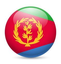 Round glossy icon of eritrea vector image vector image