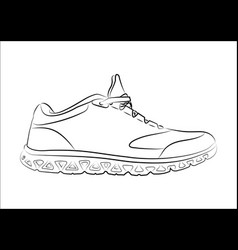 sketch doodle sneakers for your creativity vector image vector image