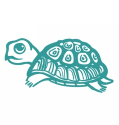 Turtle hand drawn vector image vector image