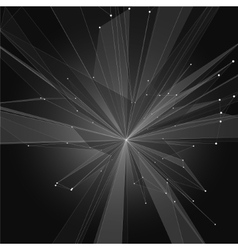 Abstract Triangle Crystal Shape in Space vector image