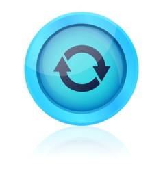 Blue update button vector image vector image
