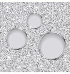 Silver glitter christmas background vector