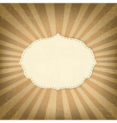 Vintage Template With Sunbeams vector image vector image