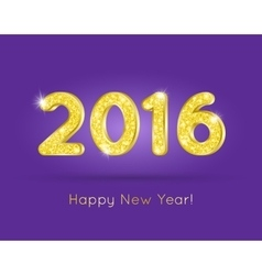 2016 Golden Glitter Digits with Happy New Year vector image vector image