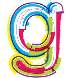Colorful Grunge font Letter g vector image