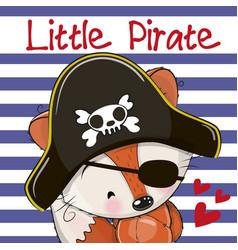 little fox pirate vector image