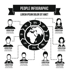 people infographic concept simple style vector image
