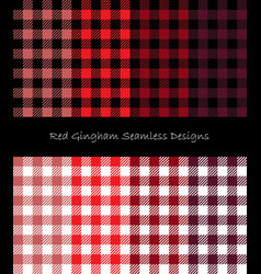 red lumberjack pattern collection vector image vector image