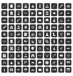100 bullet icons set black vector