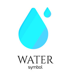 abstract blue water drop symbol creative vector image