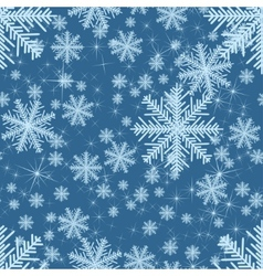 Abstract seamless with snowflakes Christmas vector image