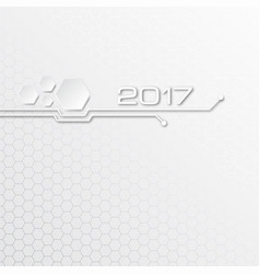 Abstract technology background for 2017 vector