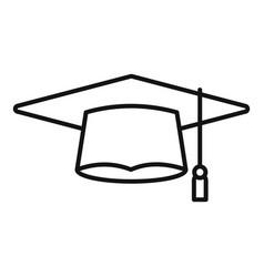 Academic graduation hat icon outline vector