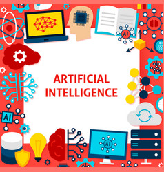Artificial intelligence paper template vector