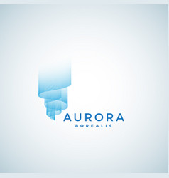 Aurora borealis abstract sign emblem vector