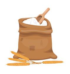 bag of flour design vector image