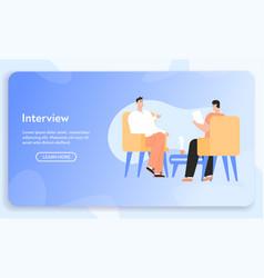 Banner interview concept vector