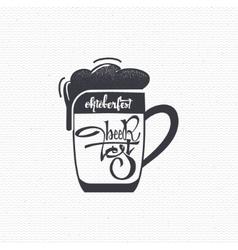 Beer Fest - vintage typography emblem Grunge vector