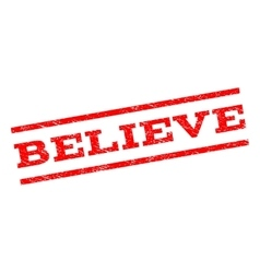Believe Watermark Stamp vector image